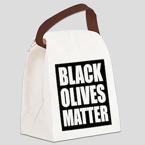 Black Olives Matter Canvas Lunch Bag
