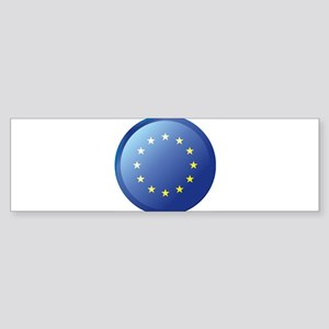 EU BUTTON Bumper Sticker