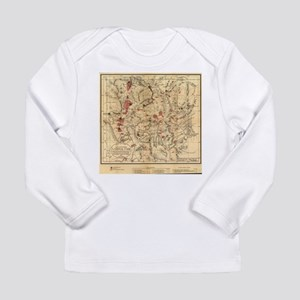 Vintage Map of Yellowstone Nat Long Sleeve T-Shirt