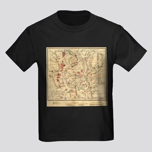 Vintage Map of Yellowstone National Park ( T-Shirt