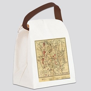 Vintage Map of Yellowstone Nation Canvas Lunch Bag