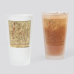 Vintage Map of Yellowstone National Drinking Glass