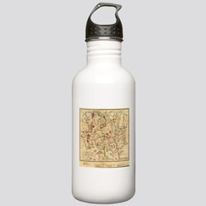 Vintage Map of Yellows Stainless Water Bottle 1.0L