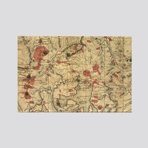 Vintage Map of Yellowstone National Park ( Magnets