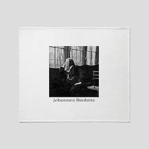 Johannes Brahms Throw Blanket