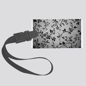 Vintage Black and White Large Luggage Tag