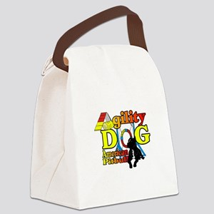 Pit Bull Agility Canvas Lunch Bag