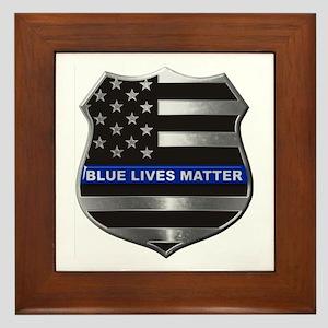 Blue Lives Matter Framed Tile