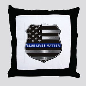 Blue Lives Matter Throw Pillow
