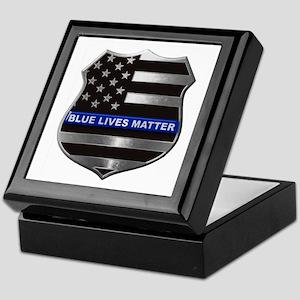 Blue Lives Matter Keepsake Box