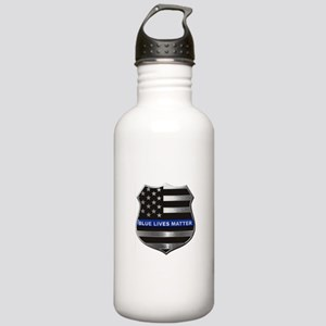 Blue Lives Matter Water Bottle