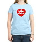 Skull and heart Women's Light T-Shirt