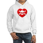 Skull and heart Hooded Sweatshirt