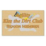 Agility Dirt Rectangle Sticker