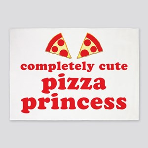 completely cute pizza princess 5'x7'Area Rug