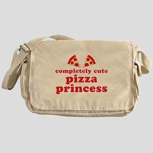 completely cute pizza princess Messenger Bag