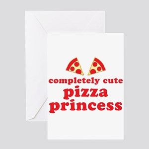 completely cute pizza princess Greeting Cards