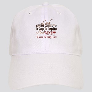 Lord give me coffee and wine Cap