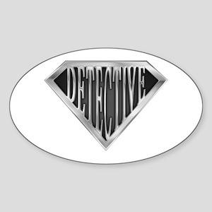 SuperDetective(metal) Oval Sticker
