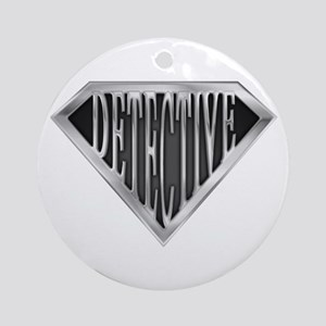 SuperDetective(metal) Ornament (Round)