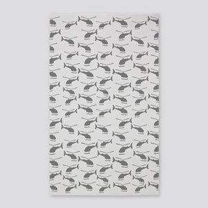 Helicopters Gray Area Rug