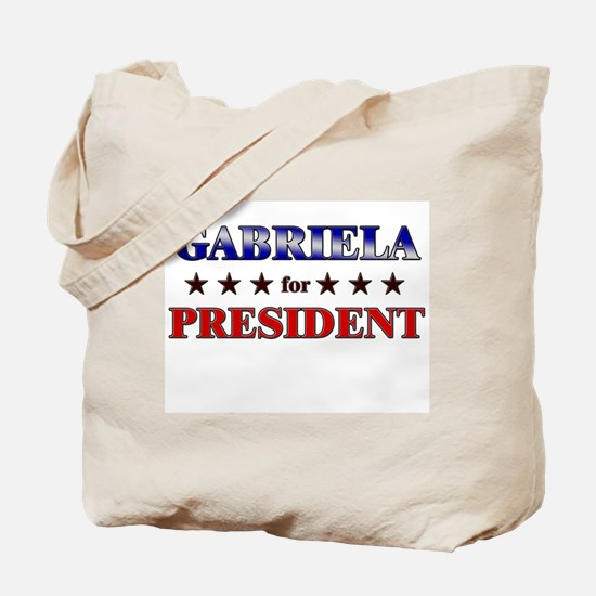 GABRIELA for president Tote Bag