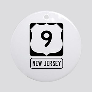 US Route 9 New Jersey Round Ornament