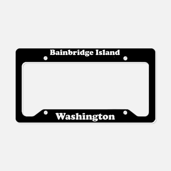 Bainbridge Island WA - LPF License Plate Holder