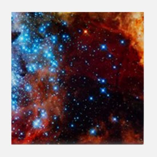 Orange Nebula Tile Coaster