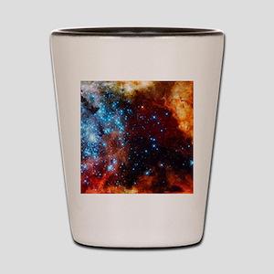 Orange Nebula Shot Glass