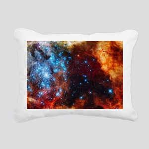 Orange Nebula Rectangular Canvas Pillow