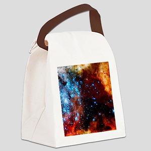 Orange Nebula Canvas Lunch Bag