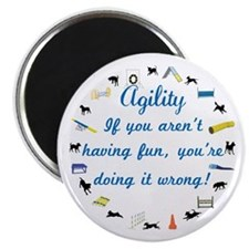 Dog Agility Fun Magnet