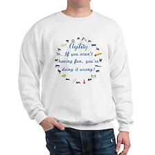 Dog Agility Fun Sweatshirt