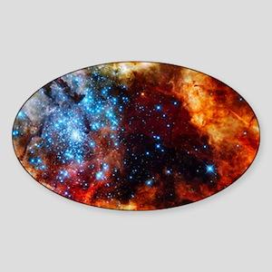 Orange Nebula Sticker