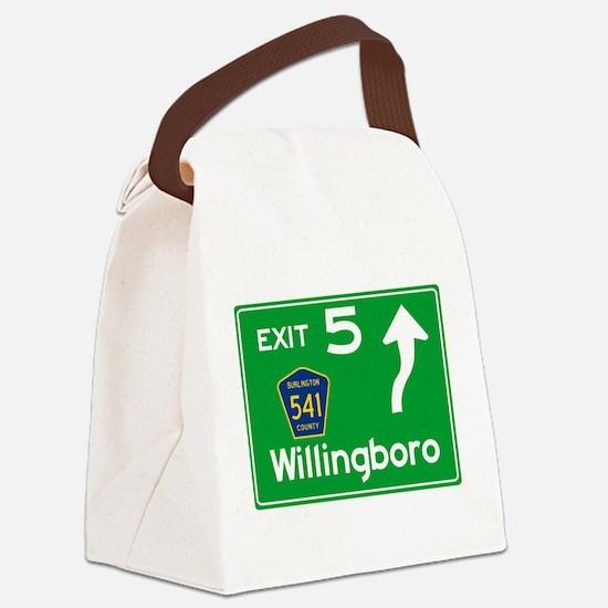 NJTP Logo-free Exit 5 Willingboro Canvas Lunch Bag