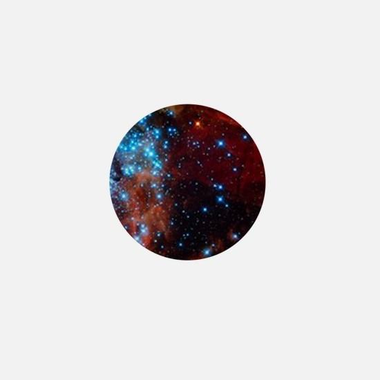 Orange Nebula Mini Button