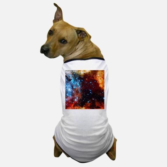 Orange Nebula Dog T-Shirt