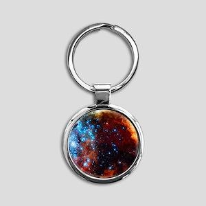 Orange Nebula Keychains