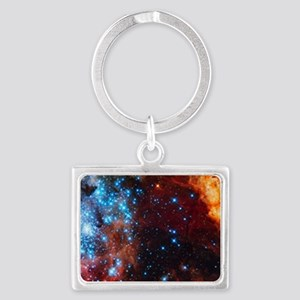 Orange Nebula Keychains