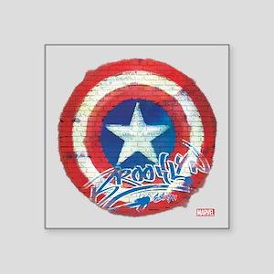 """Captain America Graffiti Sh Square Sticker 3"""" x 3"""""""