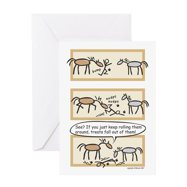 Horse Treats Birthday Card (message On Inside) By Jlwdesigns