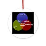 Alcohol-Girls-Responsibility Ornament (Round)