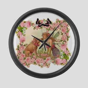 Good Luck Fairy Large Wall Clock