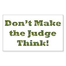 Judge Thinking Rectangle Sticker