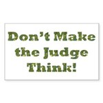 Judge Thinking Rectangle Sticker