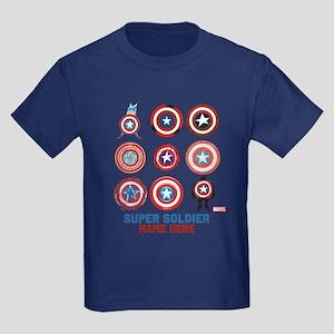 Captain America 75th Anniversary Kids Dark T-Shirt