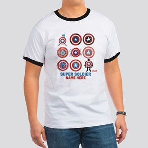 Captain America 75th Anniversary Personal Ringer T