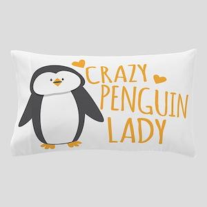 Crazy Penguin Lady Pillow Case