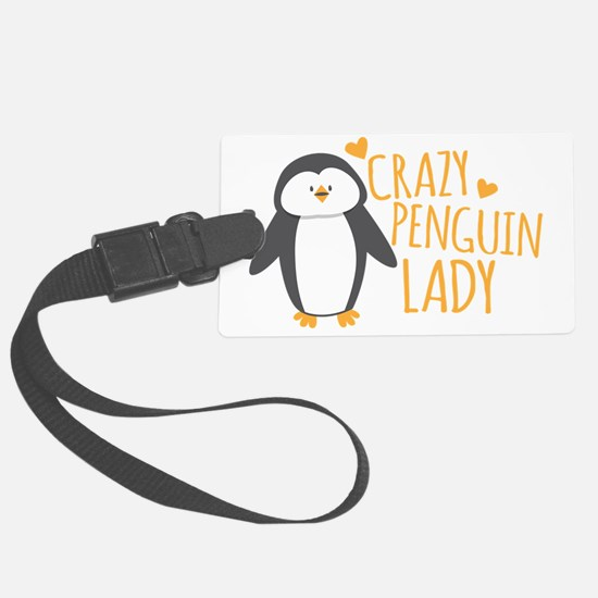 Crazy Penguin Lady Luggage Tag